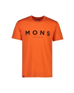 Mons Royale Mens Icon T-Shirt Orange Smash