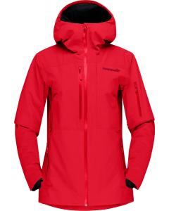 Norröna Women lofoten GTX insulated Jacket true red