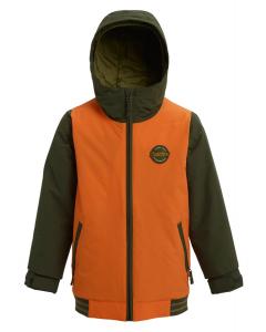 Burton Kids' Gameday Jacket Russet Orange / Forest Night