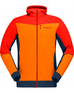 Norröna falketind warmwool2 stretch Zip Hood M's Arednalin/Orange Popsicle
