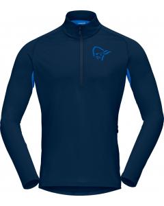Norröna Men fjørå equaliser long sleeve Zip Top indigo night/olympian blue