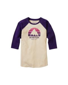 Burton Kids' Underhill Raglan T-Shirt Crème Brûlée/Parachute Purple