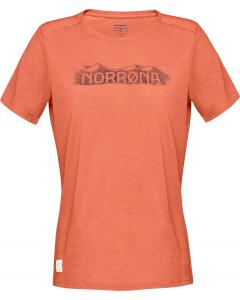 Norröna Women svalbard wool T-Shirt Flamingo
