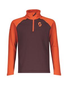 Scott Junior 1/2 Zip Pullover Defined Light orange pumpkin/red fudge