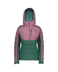 Scott Womens Jacket Ultimate Down cassis pink/jasper green