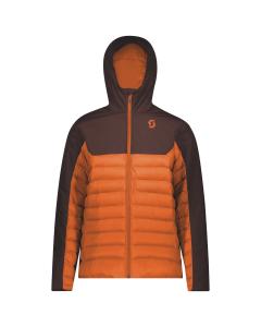 Scott Mens Jacket Insuloft Warm red fudge/orange pumpkin