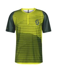 Scott Mens Shirt Trail Vertic Zip smoked green/sulphur yellow