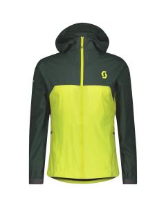 Scott Mens Jacket Explorair Light WB smoked green/sulphur yellow