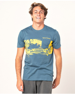 Rip Curl Men BUS SESSION TEE WASHED NAVY