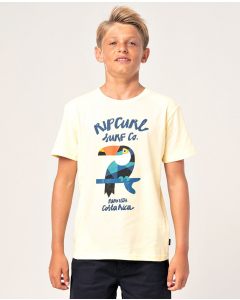 Rip Curl Boys ANIMOULOUS SS TEE PALE YELLOW