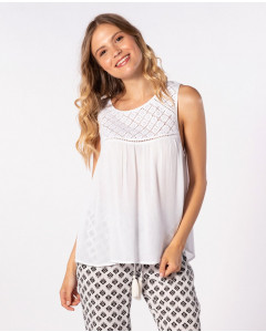 Rip Curl Womens OASIS MUSE SINGLET SHIRT WHITE