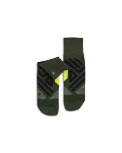 On Herren Mid Sock Jungle   Lime