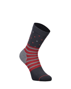 Mons Royale Womens All Rounder Crew Sock Poppy/Charcoal