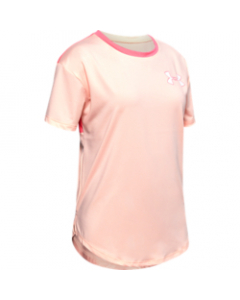 UA Girl's Armour HG SS 1327877-845 PEACH FROST-Eclectic Pink