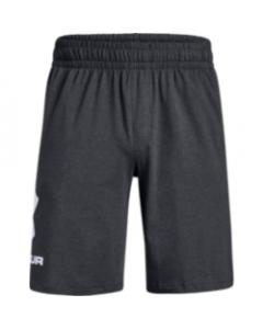 UA Men's Sportstyle Cotton Shorts 1329300-020 CHARCOAL MEDIUM HEATHER-White
