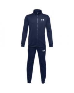 UA Boy's Knit Track Suit 1347743-408 Academy-White