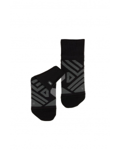 On Herren Mid Sock Black   Shadow